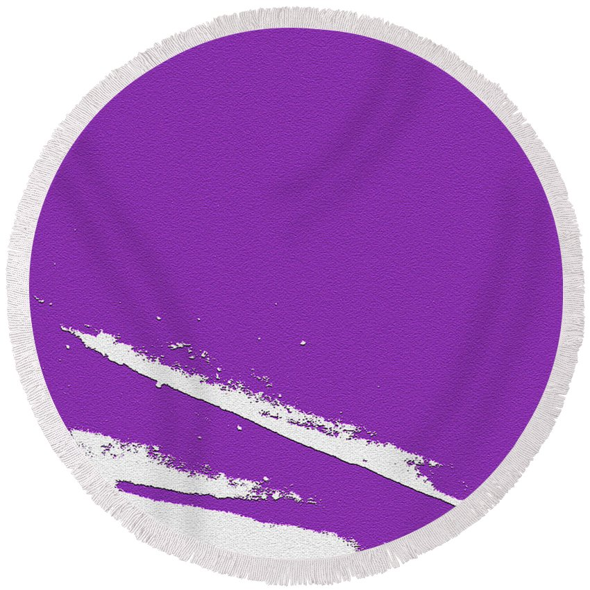 Purple Round Beach Towel featuring the digital art Purple by Are Lund