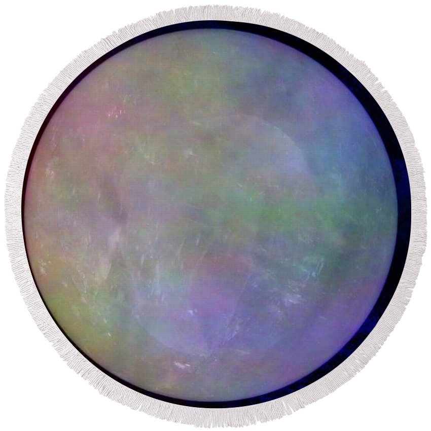 Crystal Ball Round Beach Towel featuring the photograph Quartz Crystal Ball by Mary Deal