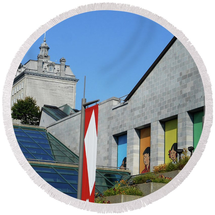 Quebec City Round Beach Towel featuring the photograph Quebec City 53 by Ron Kandt