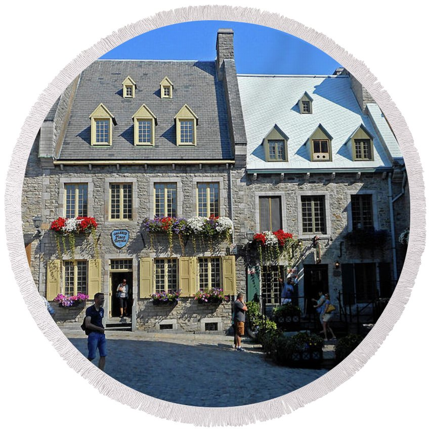 Quebec City Round Beach Towel featuring the photograph Quebec City 54 by Ron Kandt
