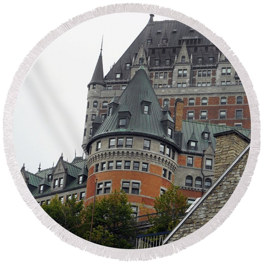 Quebec City Round Beach Towel featuring the photograph Quebec City 66 by Ron Kandt