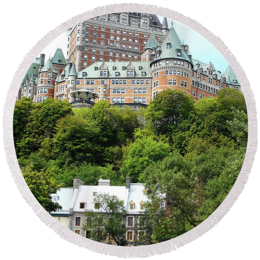 Quebec City Round Beach Towel featuring the photograph Quebec City 69 by Ron Kandt
