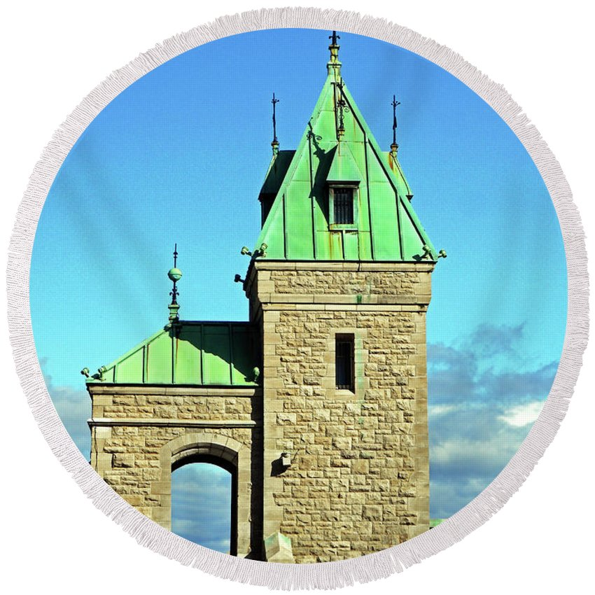 Quebec City Round Beach Towel featuring the photograph Quebec City 74 by Ron Kandt