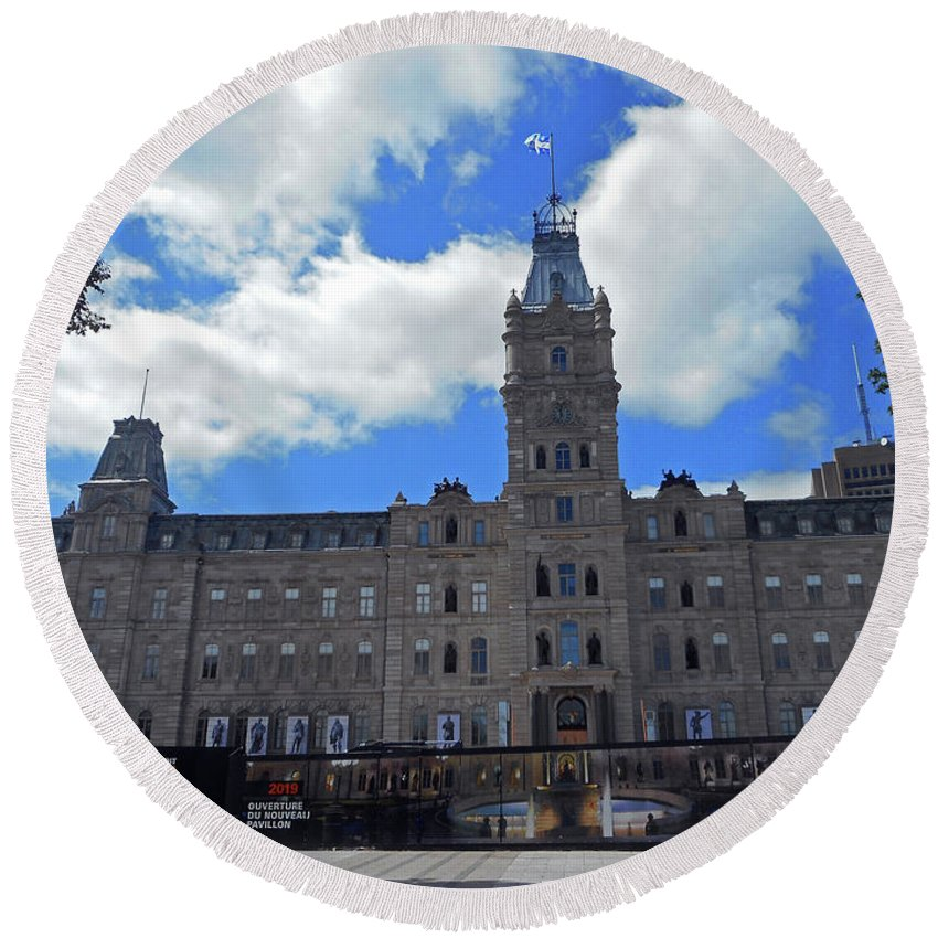 Quebec City Round Beach Towel featuring the photograph Quebec City 79 by Ron Kandt