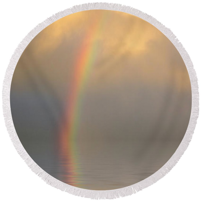 Original Art Round Beach Towel featuring the photograph Rainbow Dream by Jerry McElroy
