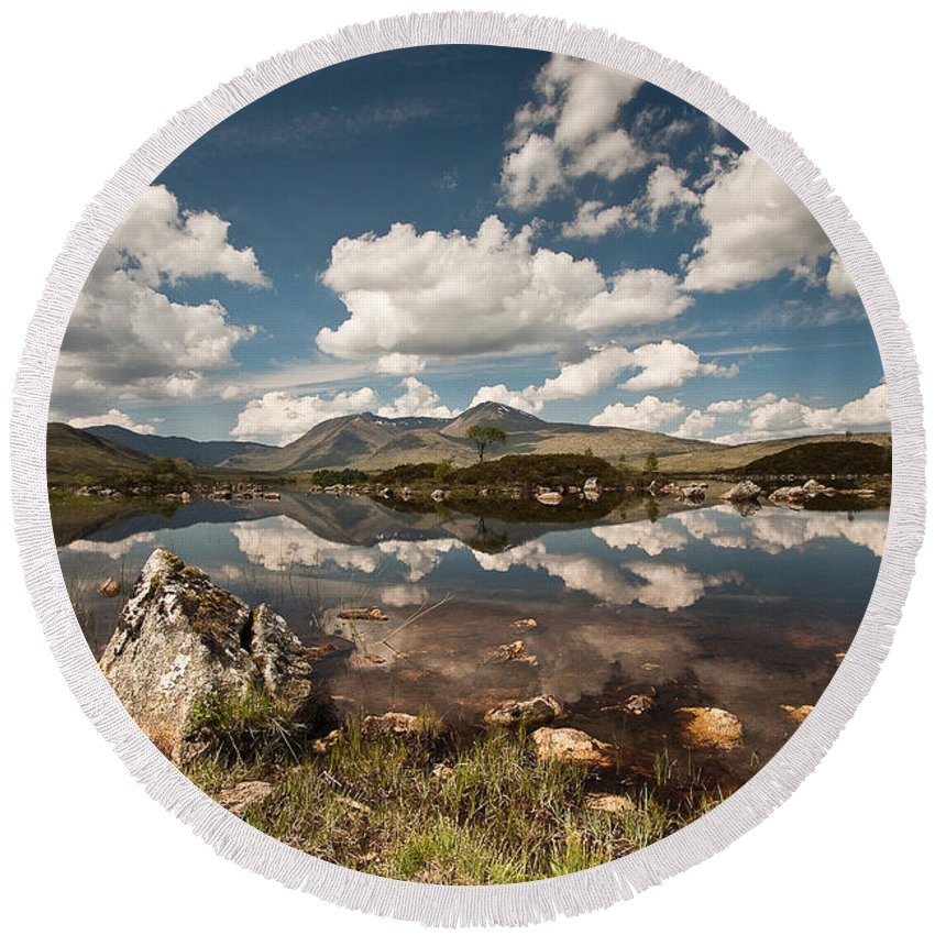 Scotland Round Beach Towel featuring the photograph Rannoch Moor by Colette Panaioti