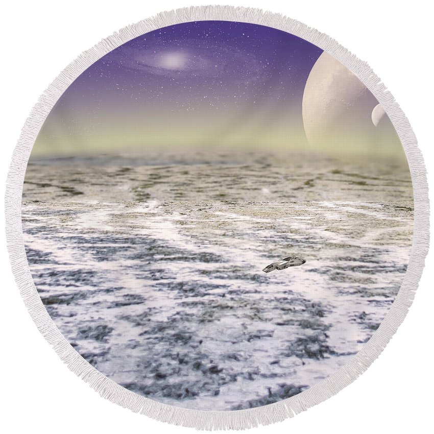 2d Round Beach Towel featuring the photograph Reconnaissance Mission by Brian Wallace