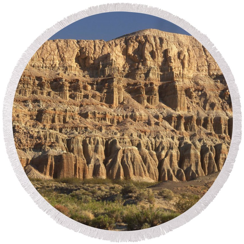 Hwy 14 Round Beach Towel featuring the photograph Red Rock Canyon State Park by Soli Deo Gloria Wilderness And Wildlife Photography