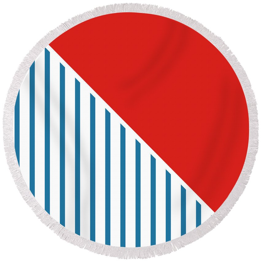 Patriotic Round Beach Towels