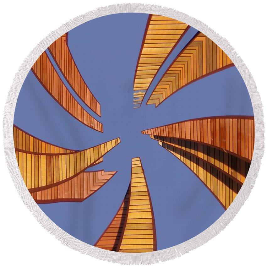 Seattle Round Beach Towel featuring the digital art Reeds 2 by Tim Allen