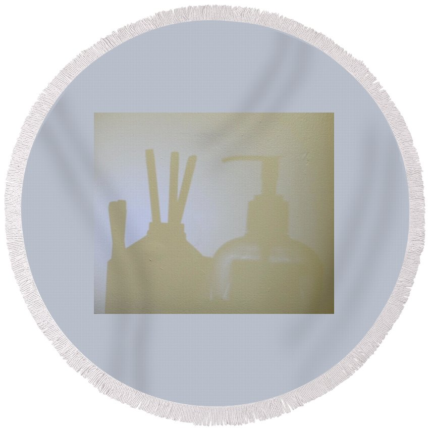 Shadow Round Beach Towel featuring the photograph Reflection by Michael Nichol