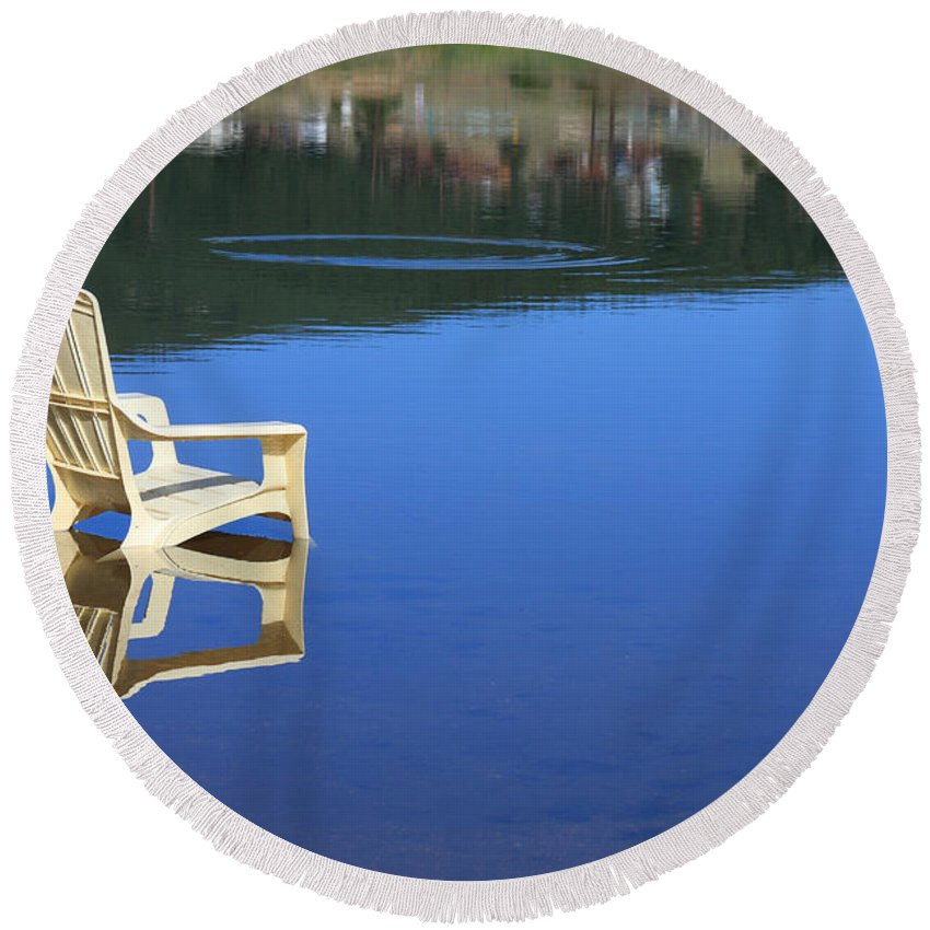 Water Round Beach Towel featuring the photograph Reflections Fine Art Photography Print by James BO Insogna
