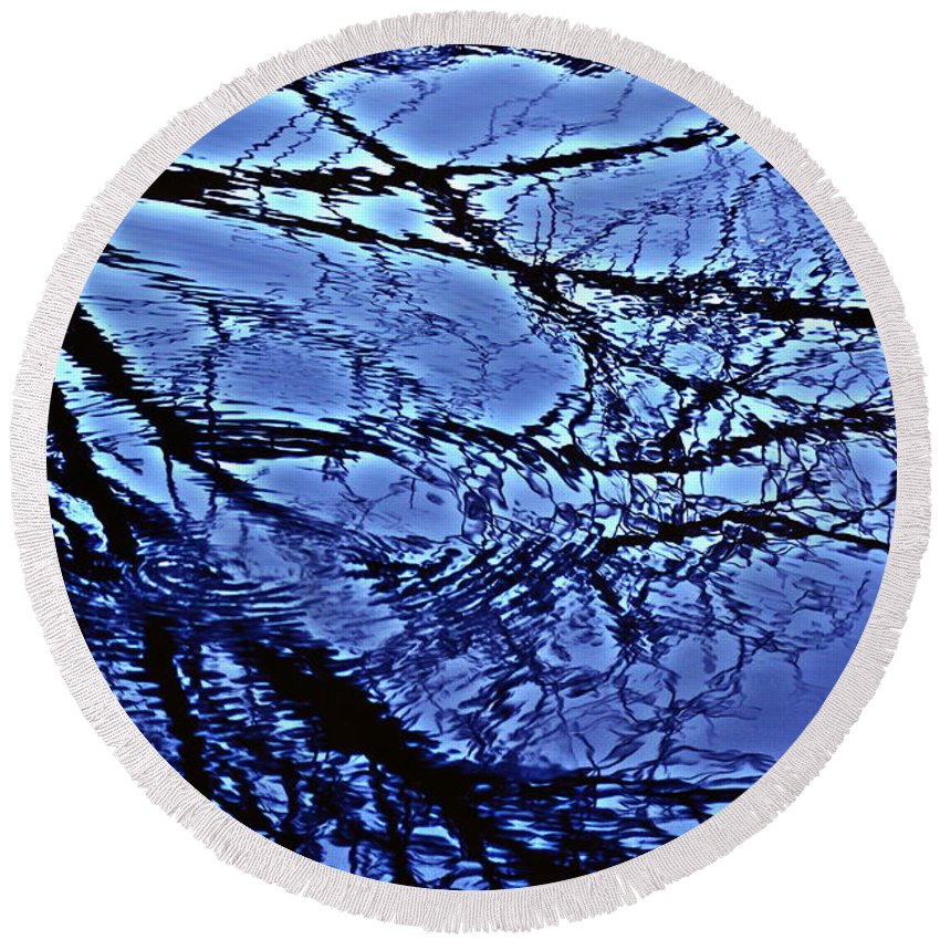 Reflections Round Beach Towel featuring the photograph Reflections by Joanne Smoley