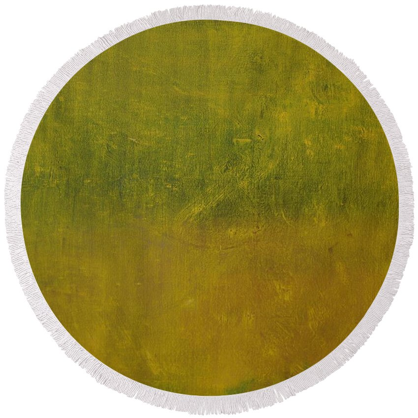 Jack Diamond Round Beach Towel featuring the painting Reflections Of A Summer Day by Jack Diamond