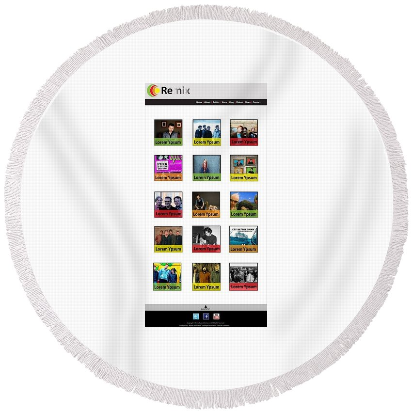 Website Design Samples Round Beach Towel featuring the photograph Remix - Artists Page by Alex Art and Photo