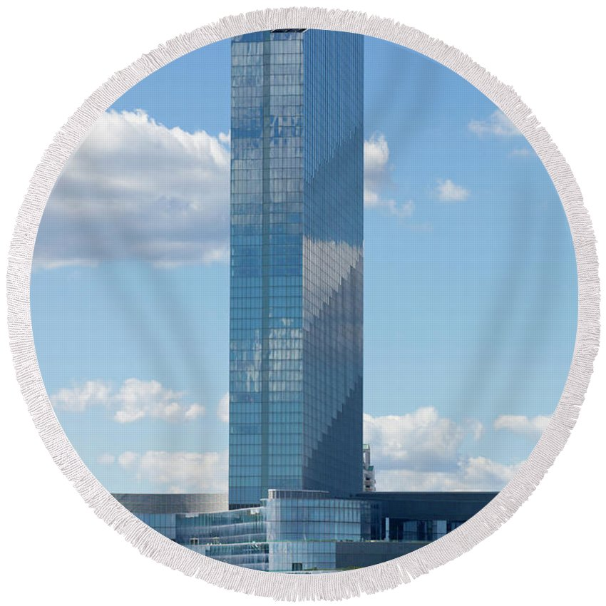 Revel Casino Round Beach Towel featuring the photograph Revel Casino In Atlantic City, New Jersey by Anthony Totah