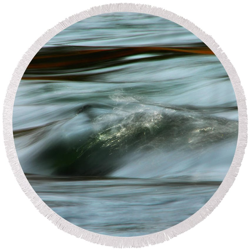 Water Round Beach Towel featuring the photograph Ribbon Of Passion by Donna Blackhall