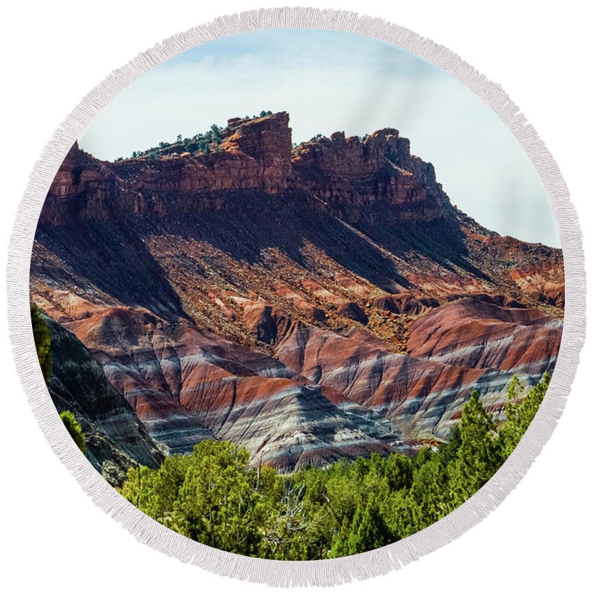 Paria Round Beach Towel featuring the photograph Ridges by Jerry Sellers