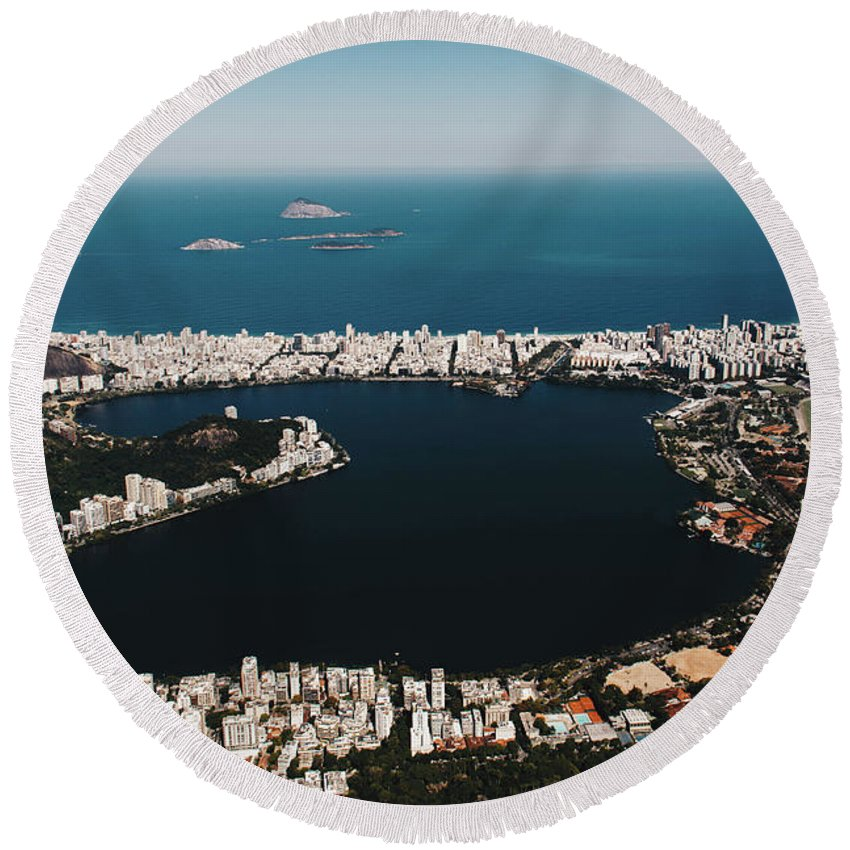 Rio De Janeiro Round Beach Towel featuring the photograph Rio In Contrast by Madison Speer