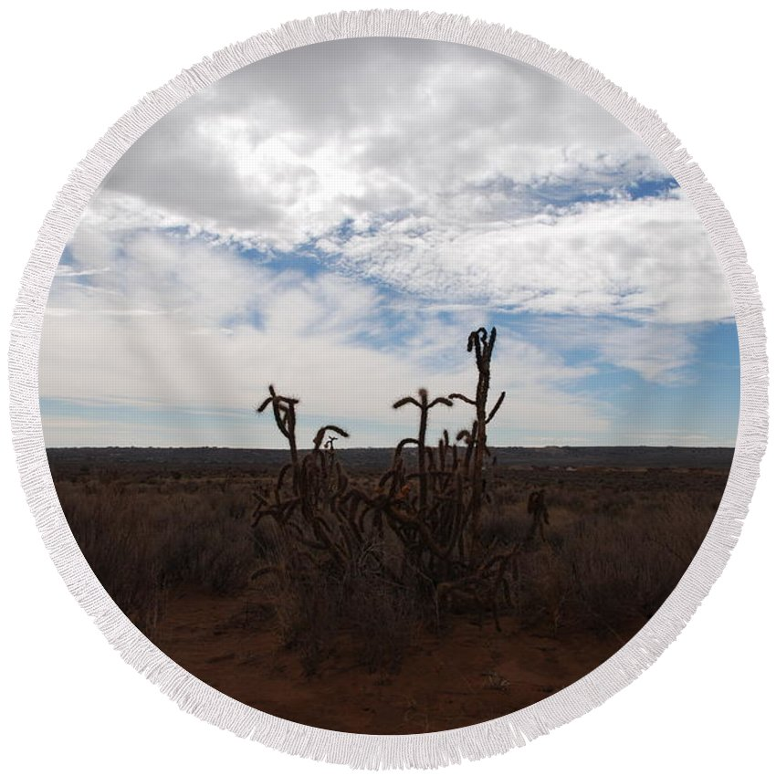 New Mexico Round Beach Towel featuring the photograph Rio Rancho New Mexico by Rob Hans