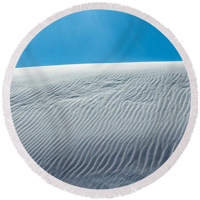 Desert Round Beach Towel featuring the photograph Ripples by Racheal Christian