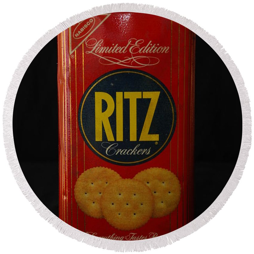 Ritz Round Beach Towel featuring the photograph Ritz Crackers by Rob Hans