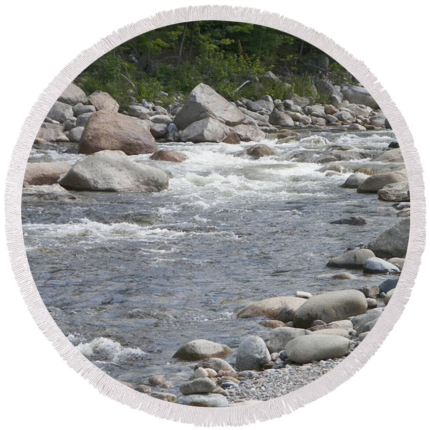 Rocks Round Beach Towel featuring the photograph Rivers Of New Hampshire by Gina Sullivan
