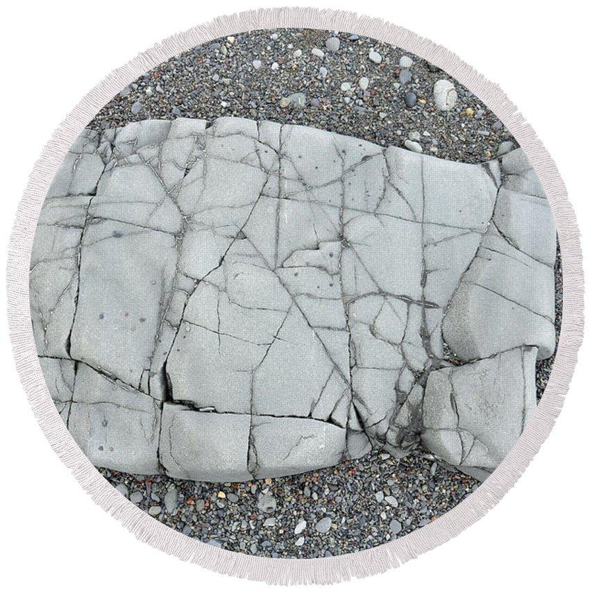 Rock Round Beach Towel featuring the photograph Rock Dog by Glenn Gordon