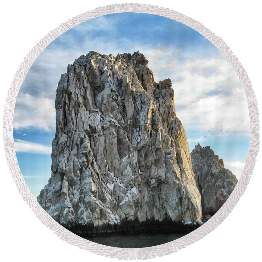 Rock Round Beach Towel featuring the photograph Rock Formation by Robbie McCown