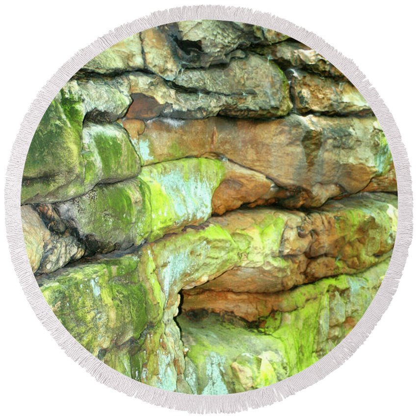 Rocks Round Beach Towel featuring the photograph Rock Formation, Wv by Marvin Averett