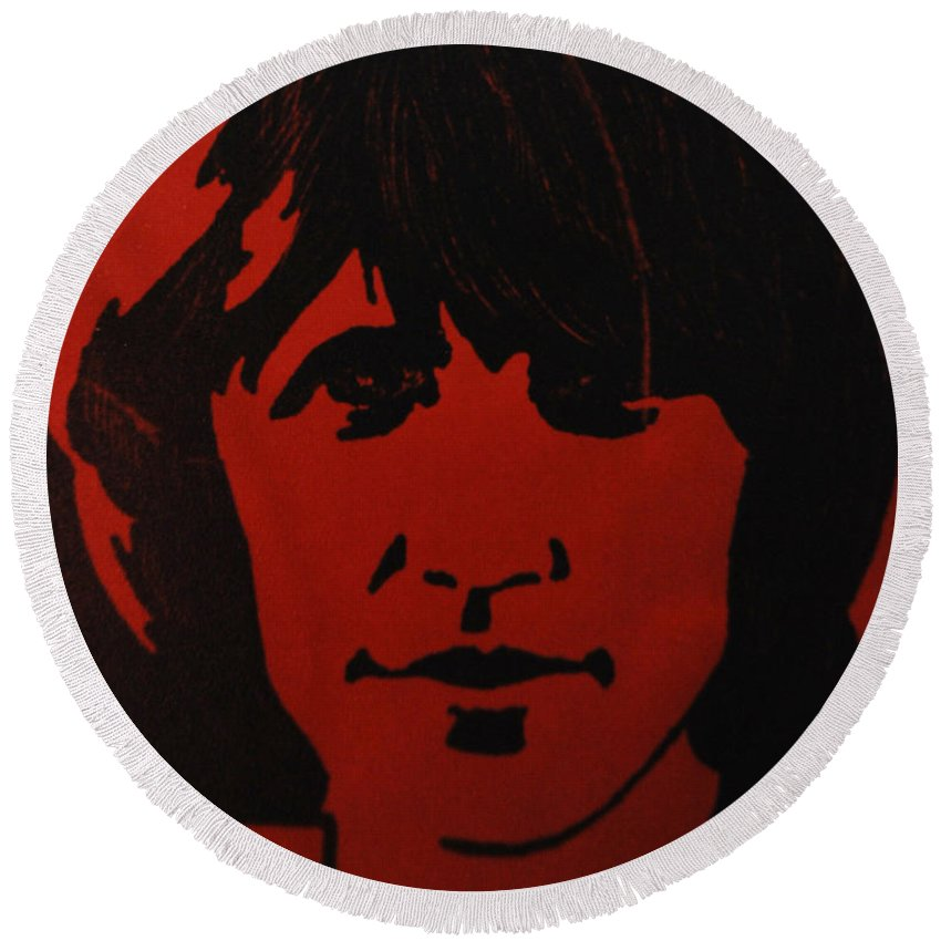 Abstract Round Beach Towel featuring the photograph Roger Waters by Rob Hans