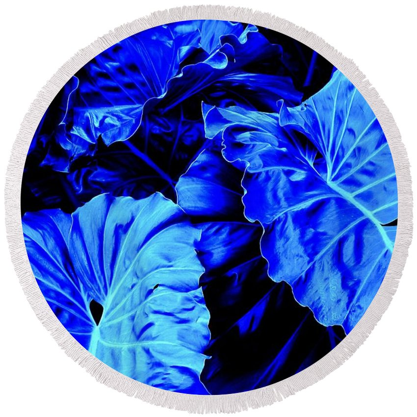 Blue Round Beach Towel featuring the photograph Romney Blue by Ian MacDonald