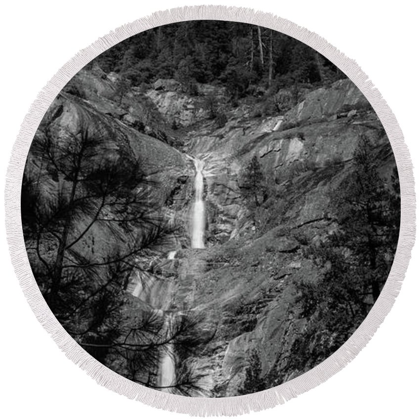 Beautiful Round Beach Towel featuring the photograph Root Creek Falls by Michele James