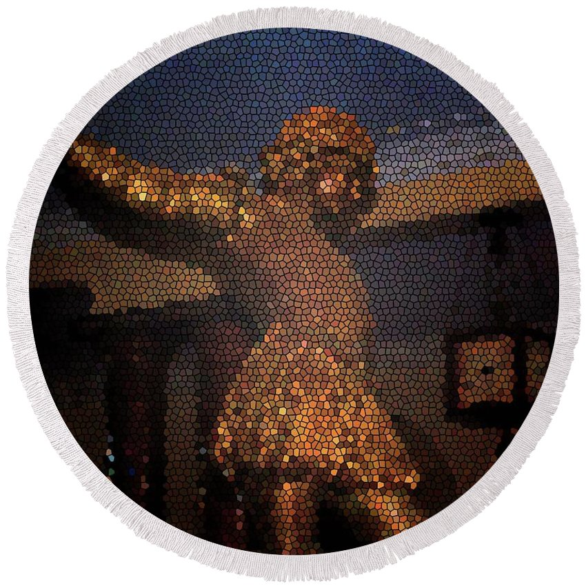 Rosalind Round Beach Towel featuring the photograph Rosalind by Jost Houk
