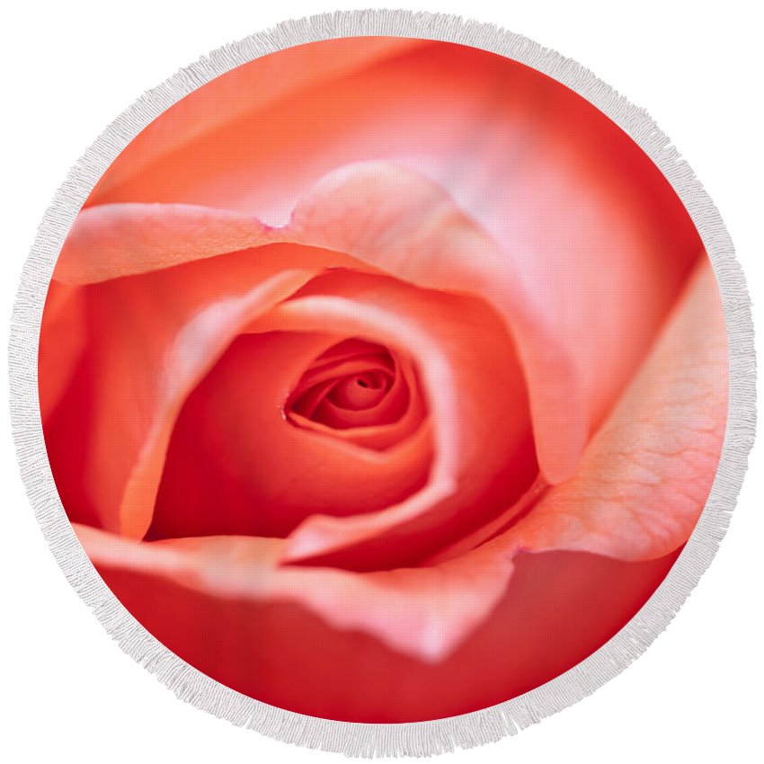 Abstract Round Beach Towel featuring the photograph Rose Petals by Michal Boubin