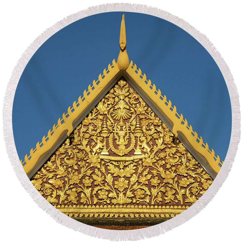 Cambodia Round Beach Towel featuring the photograph Royal Palace 12 by Rick Piper Photography