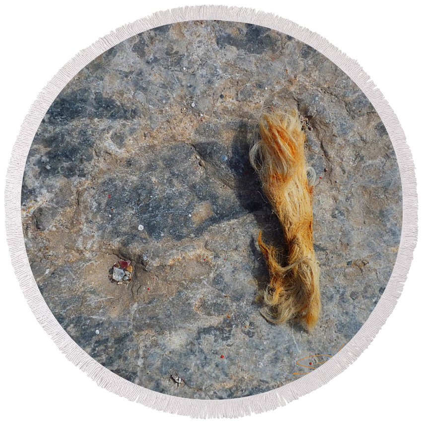 Fishing Net Round Beach Towel featuring the photograph Rust In The Dust by Charles Stuart