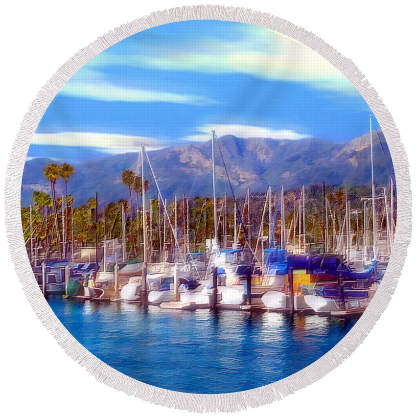 Charbor Round Beach Towel featuring the photograph Safe Haven by Kurt Van Wagner