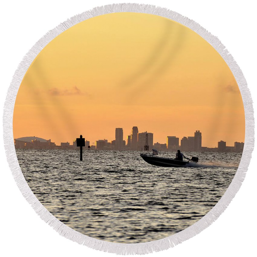 Saint Petersburg Florida Round Beach Towel featuring the photograph Saint Petersburg Florida by David Lee Thompson