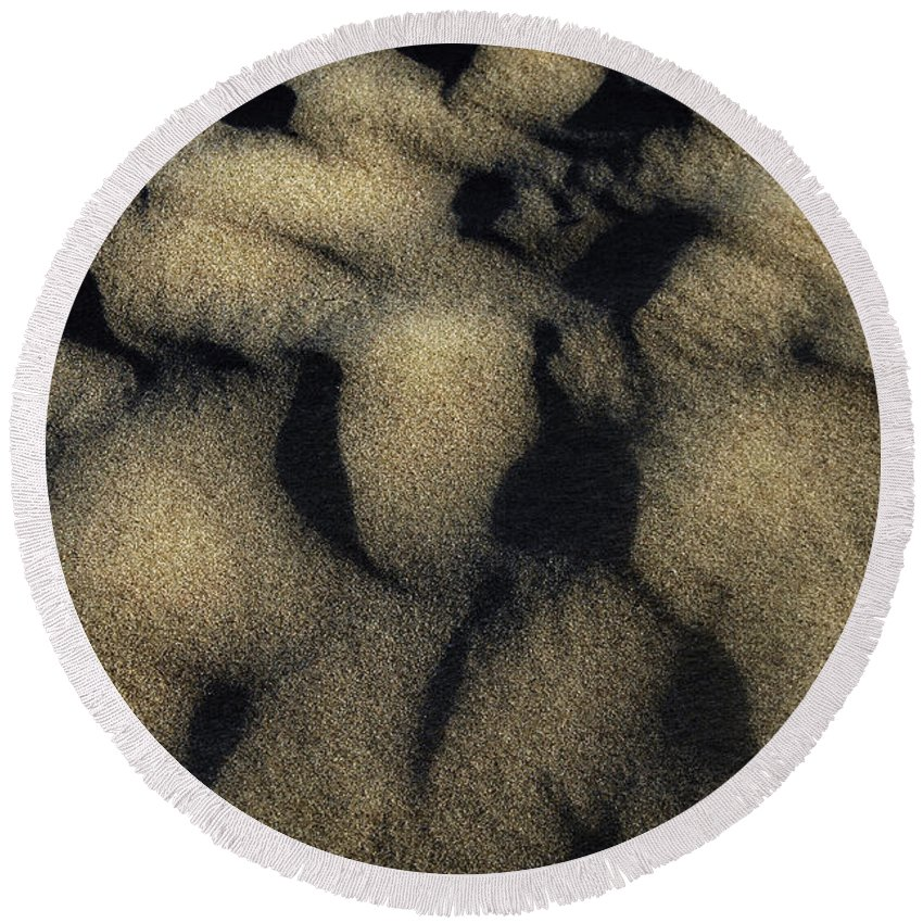 Sand Round Beach Towel featuring the photograph Sands Of Time by Donna Blackhall