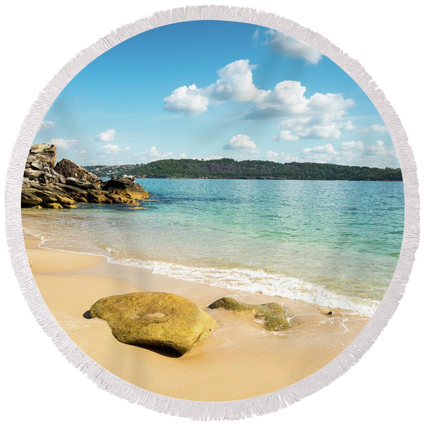 Sand Round Beach Towel featuring the photograph Sandy Beach Sydney by Andrew Michael