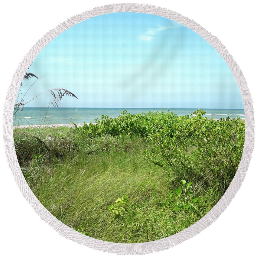 Florida Round Beach Towel featuring the photograph Sanibel Island by Chris Andruskiewicz
