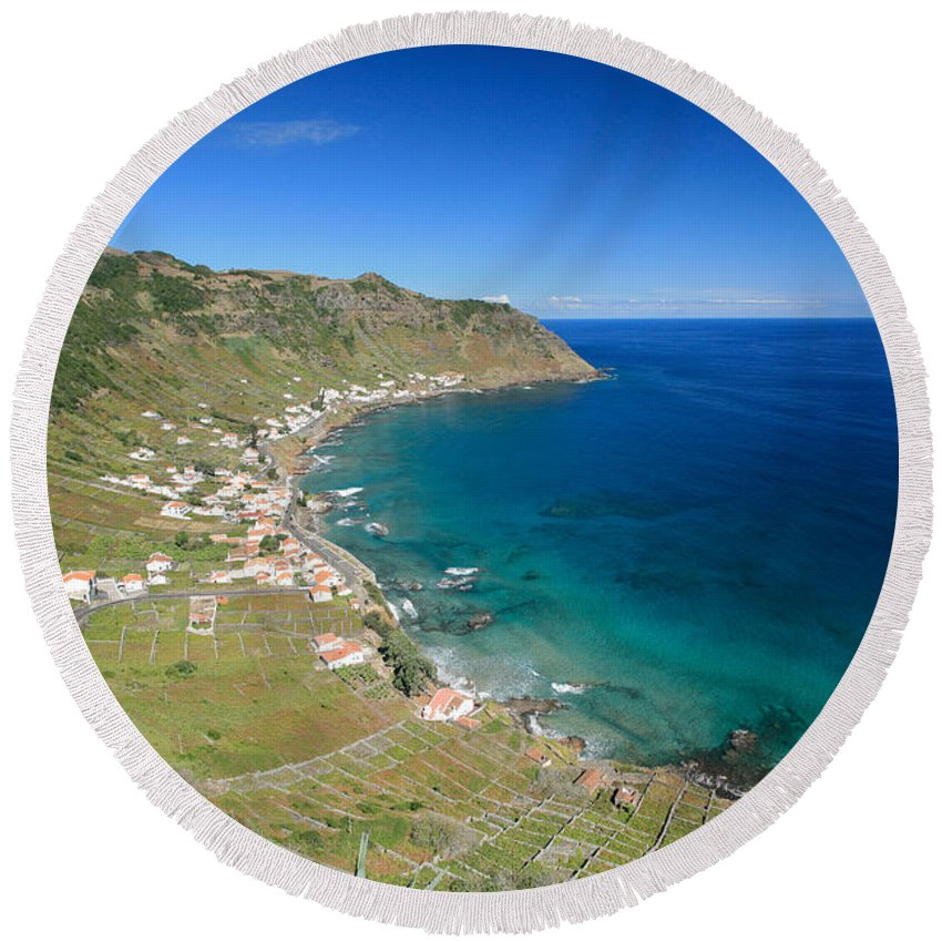 Azores Round Beach Towel featuring the photograph Santa Maria Azores II by Gaspar Avila
