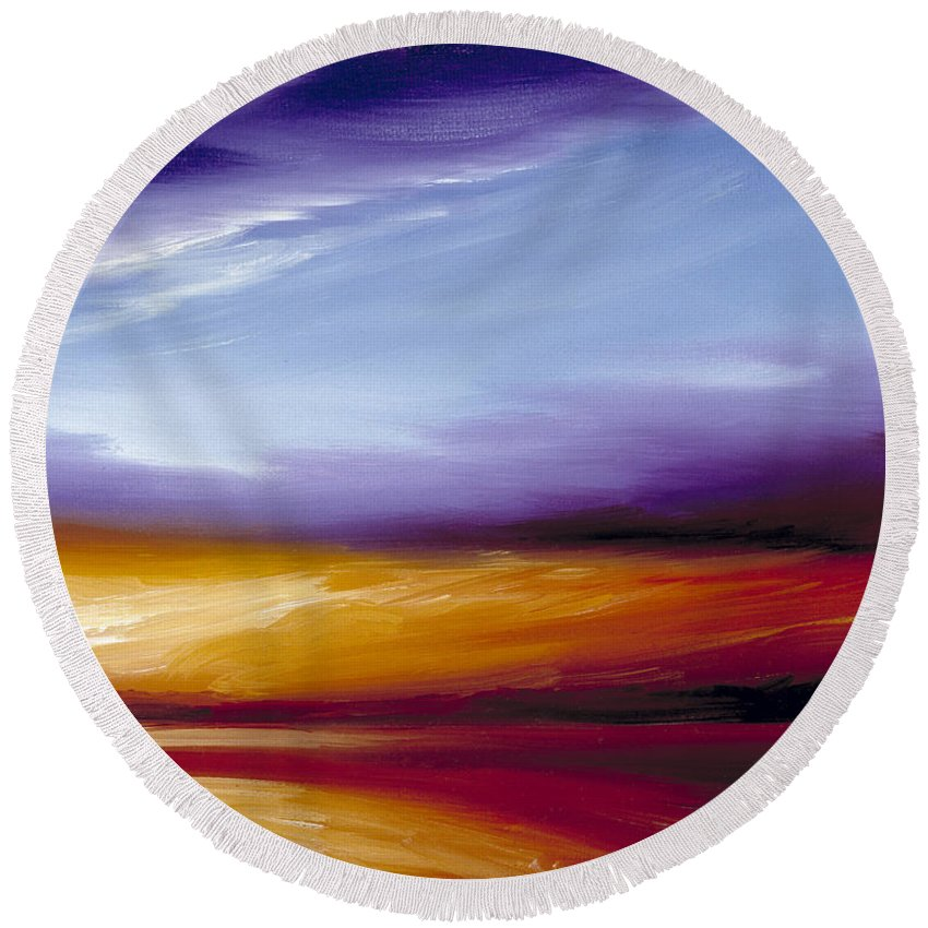 Skyscape Round Beach Towel featuring the painting Sarasota Bay II by James Christopher Hill