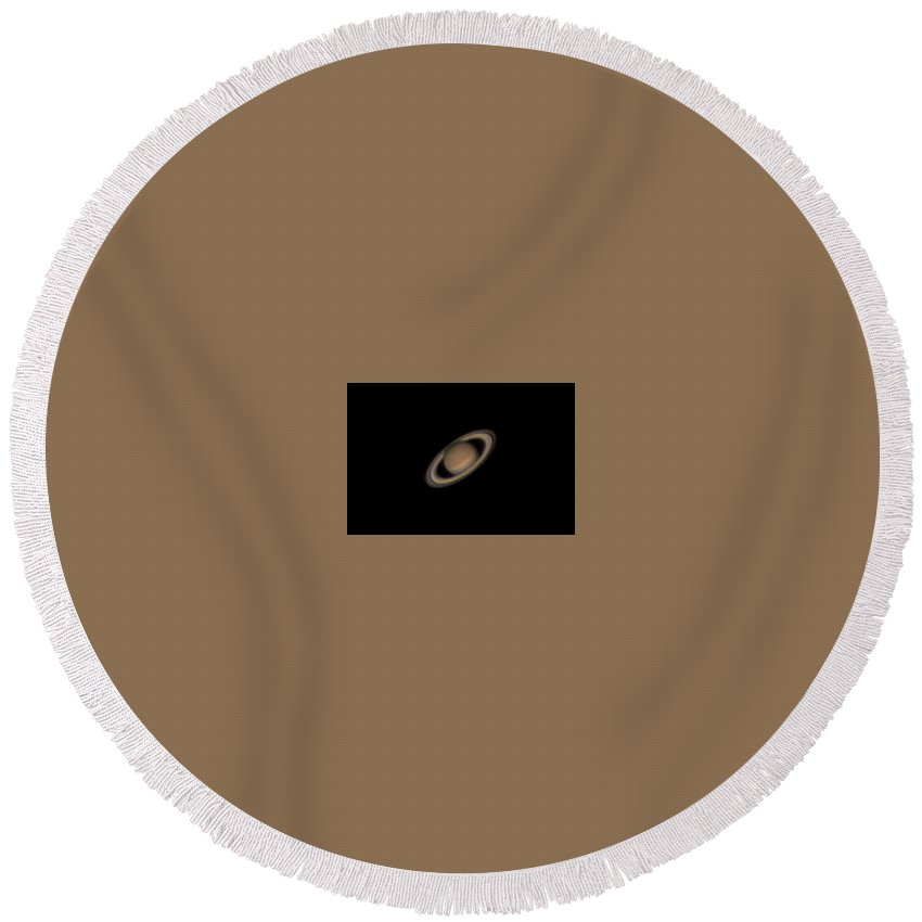 Saturn Round Beach Towel featuring the photograph Saturn by Brent Newton