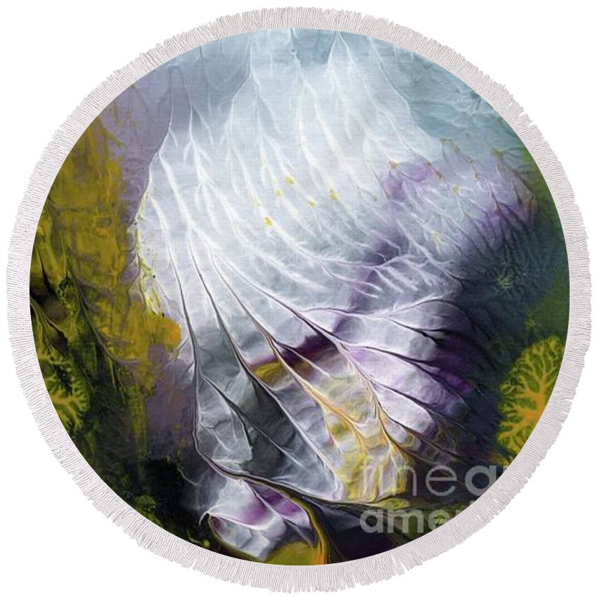 Ocean Round Beach Towel featuring the painting Sea Deep 21 by Ivan Fraser