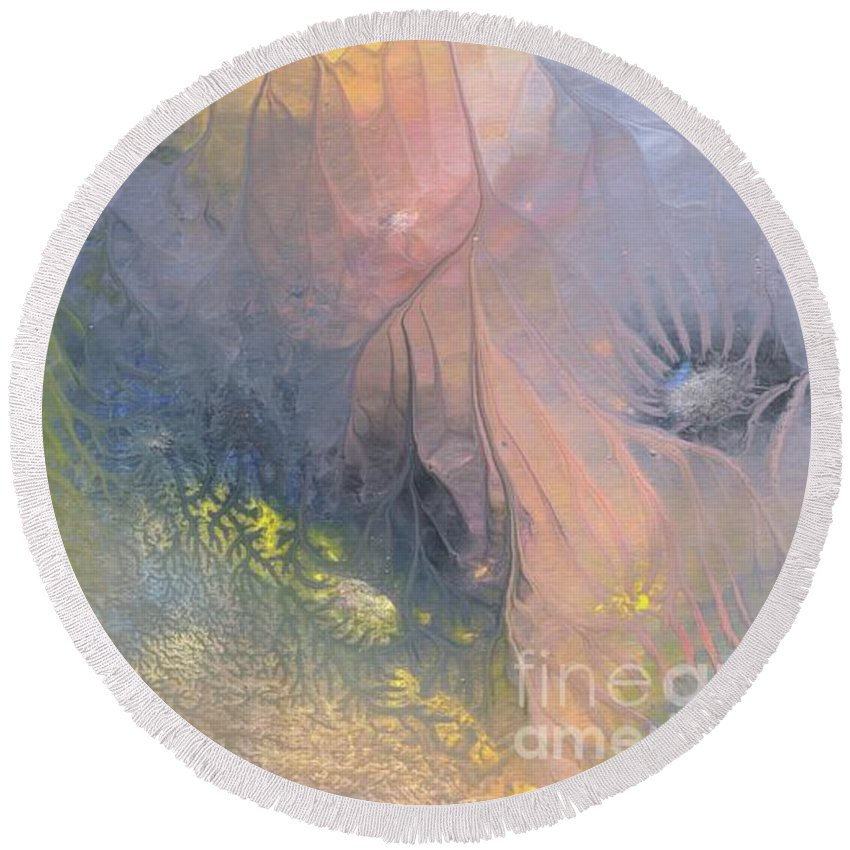 Ocean Round Beach Towel featuring the painting Sea Deep 63 by Ivan Fraser