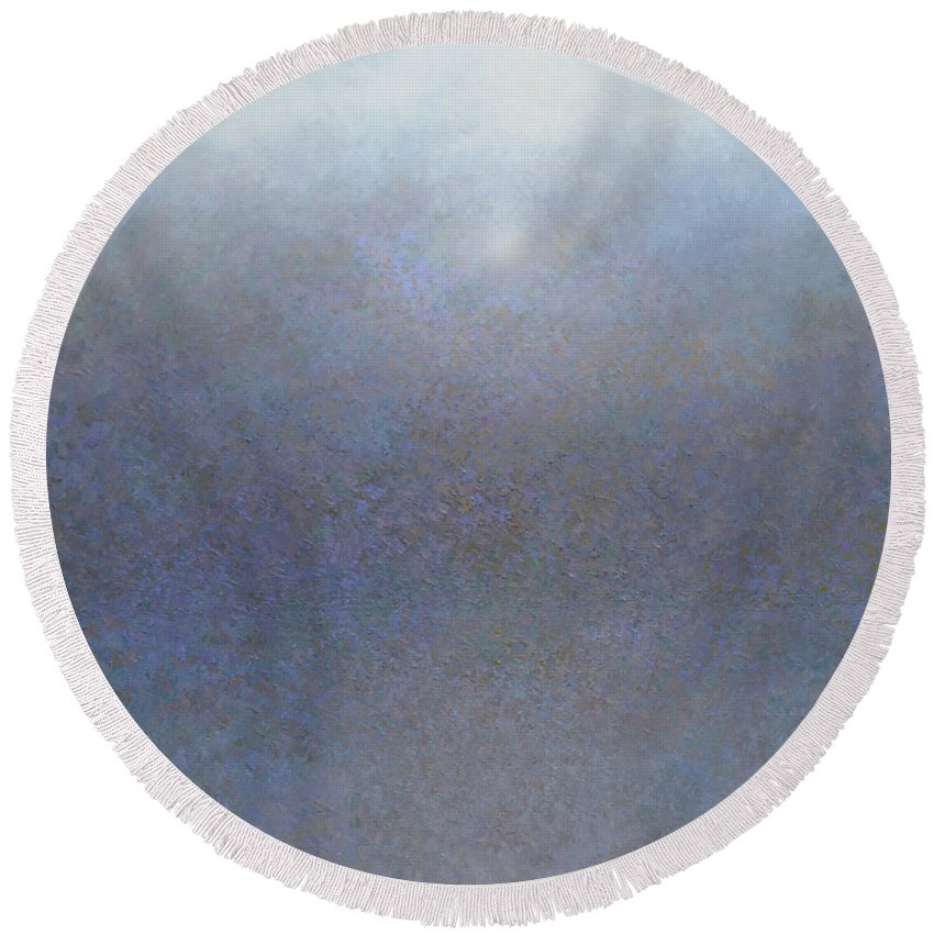 Blue Round Beach Towel featuring the painting Sea Mist by Jeremy Annett
