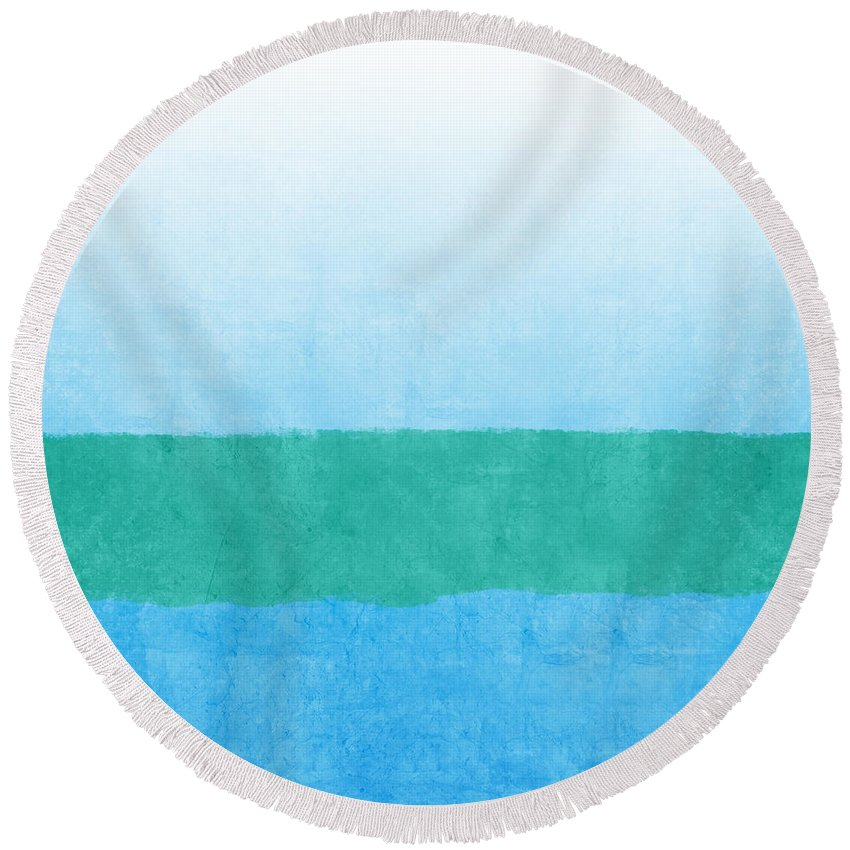 Seascape Round Beach Towels