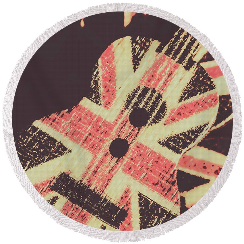 Britpop Round Beach Towel featuring the photograph Second British Invasion by Jorgo Photography - Wall Art Gallery